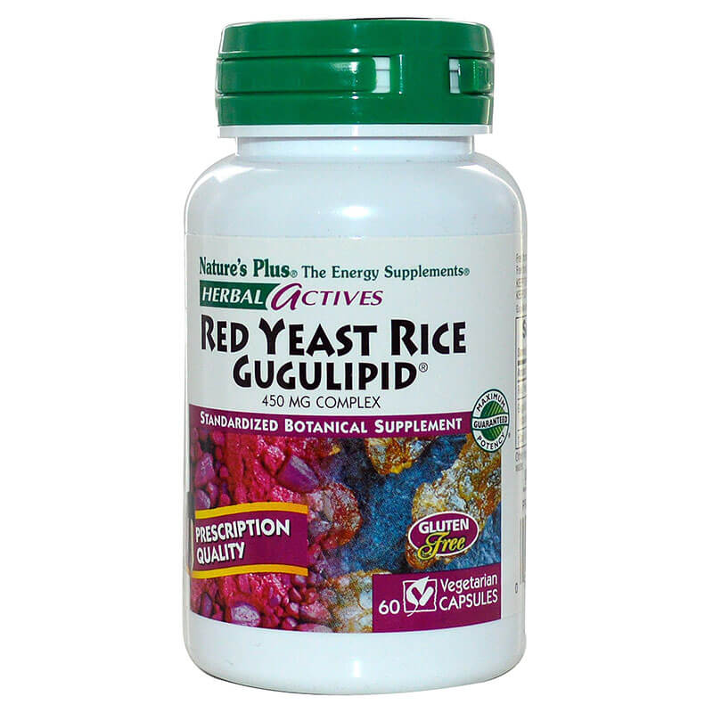 Nature`s plus red yeast rice gugulipid vcaps 60 -healthspot overespa