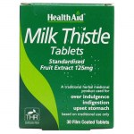 Health aid Milk Thistle Seed Extract 30 tablets Φυτοθεραπεία με ταμπλέτες που προστατεύουν το ήπαρ Healthspot Overespa