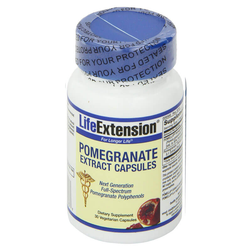 Life extension pomegranate extract 30 vegicaps -healthspot overespa