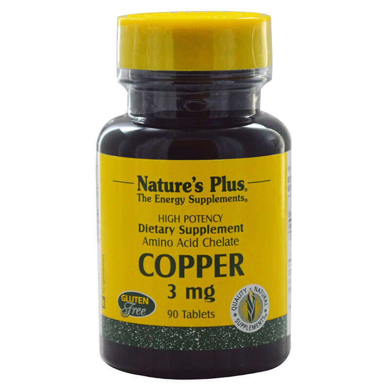 Nature`s plus copper 3 mg tablets 90 -healthspot overespa